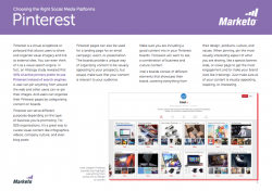 Tips for the Social Media Marketer Pinterest