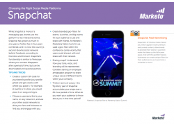 Tips for the Social Media Marketer Snapchat