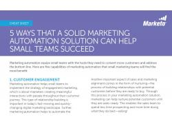 5 Ways That a Solid Marketing Automation Solution snip