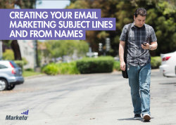 creating email subject lines and from names.